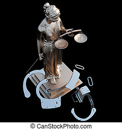 Lady of Justice & handcuffs