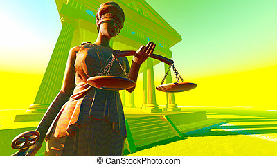 Lady of Justice in court - Lady of Justice. Conceptual ...
