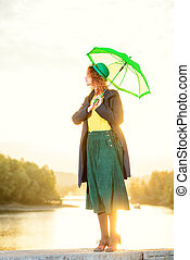 lady on a sunset