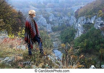 Lady on the Edge of Emen Canyon