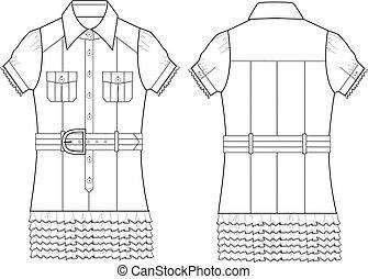 lady poplin blouse