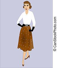 lady posing from fifties era
