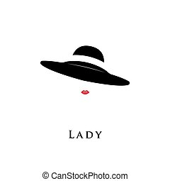 Lady retro hat.
