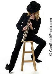 saxophone player - Lady saxophone player