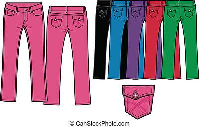 lady skinny denim jeans
