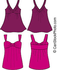 lady sleeveless fancy top