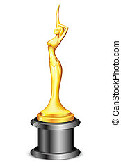 Lady Statue Trophy - illustration of lady statue trophy on...