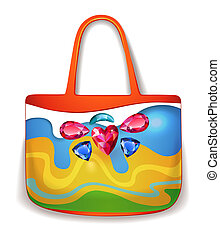 Lady summer holiday hand bag