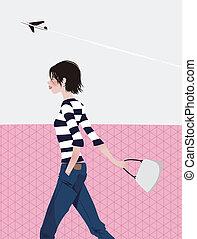lady walk  - lady walk