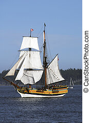 Lady Washington - the lady washington brig at sea