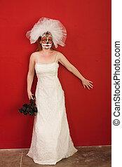 Lady wearing a Bridal dress
