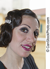 lady with hair in retro style