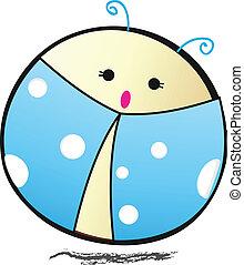 Ladybird cartoon - Vector illustration,EPS10