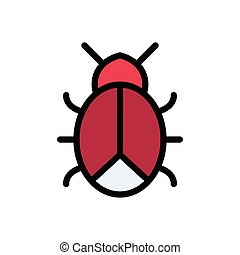 ladybird  flat color icon