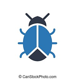 ladybird  glyph color icon