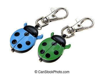 Ladybird Keychain - A pair of colourful ladybird keychains.