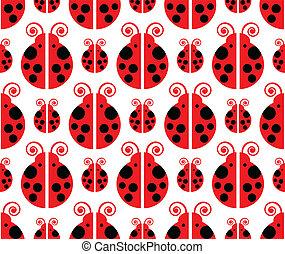 ladybird seamless pattern
