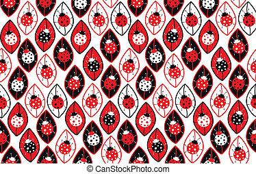 ladybirds, seamless, fundo