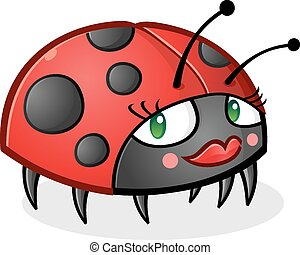Ladybug Cartoon Character - A cute little ladybug cartoon...