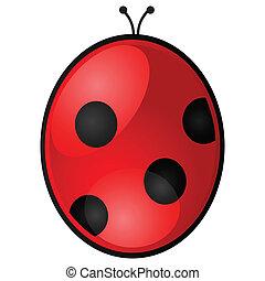 Ladybug - Glossy illustration of a red and black ladybug