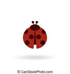 ladybug color flat icon