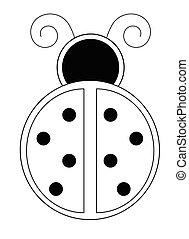 ladybug, coloração, página