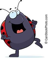 Ladybug Dancing - A happy cartoon ladybug dancing and ...