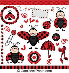 ladybug, digital, scrapbook