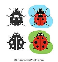 Ladybug flat color vector icon