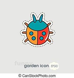 Ladybug flat vector icon