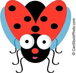 ladybug, fundo branco