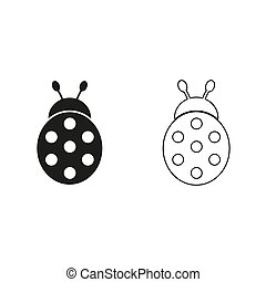 ladybug - green vector icon