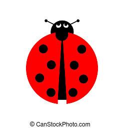 Ladybug illustration on white background.