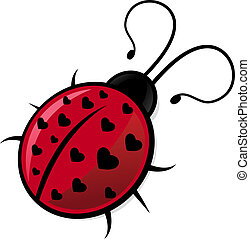 Ladybug - Illustration of ladybug with hearts