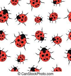 Ladybug Pattern Seamless background.