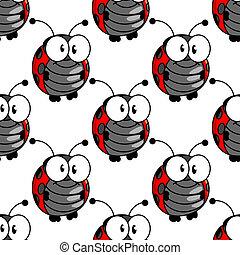 Ladybug seamless background pattern