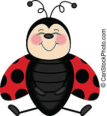 Ladybug Smiling From Ear to Ear - Scalable vectorial image...