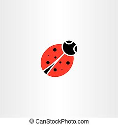ladybug vector icon symbol element