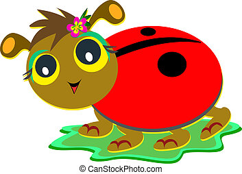 Ladybug with Flip Flop Sandals - Here is a cute Ladybug...