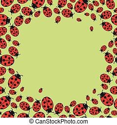 ladybugs, frame, bont
