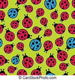 Ladybugs seamless background.