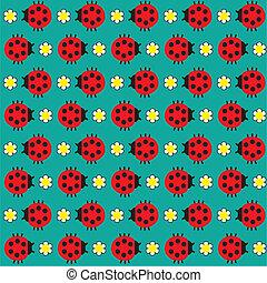 Ladybugs - Seamless texture with the image of the ladybug ...