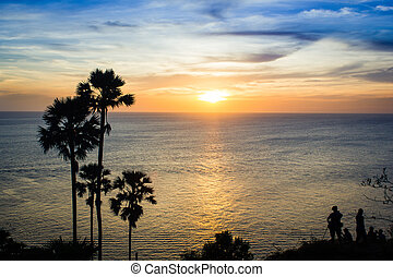 Laem Phromthep, places to watch the sunset in Thailand.