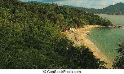 Laem Sing beach, Phuket island, Thailand. View from hill
