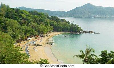 Laem Sing Beach. Phuket island. Thailand. Top view