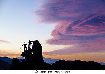 lag, av, climbers.