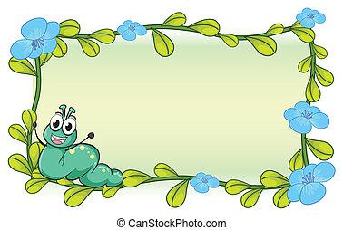 lagarta, flores