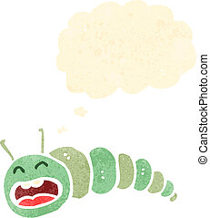 lagarta, retro, caricatura
