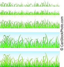 lagen, gras, groene, seamless