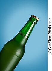 lager, öl, in, glasflaska